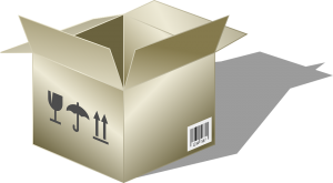 A box used by packing services Florida