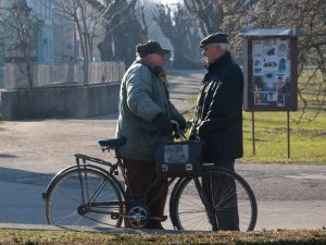 Old people talking