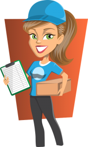 Girl holding a packet by movers Crestview FL