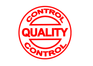 Quality control red stamp