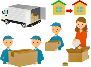 People moving some boxes