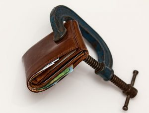 a squeezed wallet