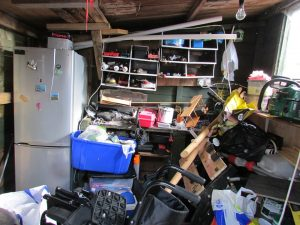Clutter in the garage