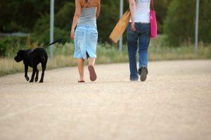 People walking their dog