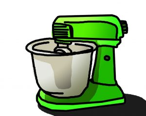 A green mixer quickly taken out of the storage unit as a fast way of organizing your new home