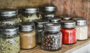 Jars can be used as a storage containers after you downsize your pantry and fridge.