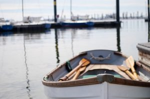 Rowboat on the river