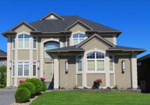 A big grey house.