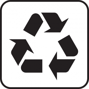 A symbol for recycling.