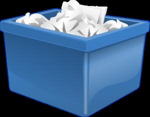 Eco-friendly storage - a plastic bin