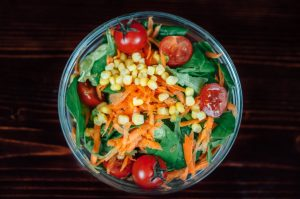Bowl of vegetables.