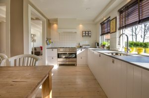 a kitchen, avoid unpacking it during the first day in your new home