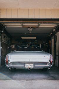 car in the garage