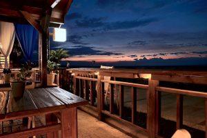 House porch on the beach.