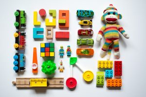 pack toys when moving- toys laying on the floor