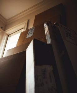 Unpacking after your Lake Worth move- boxes