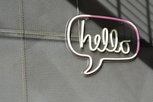 Making friends with new neighbors- hello sign