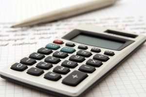 A calculator on a paper