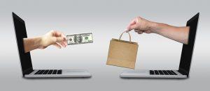 Illustration of an online sale