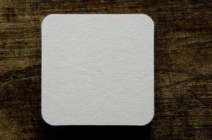 A white sticker label