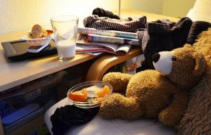 A cluttered home