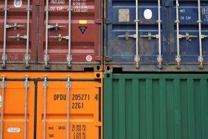 Storage container doors
