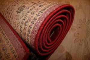 Rolled up rug