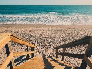 Steps leading to a beach