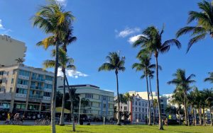 A street view of the sunny Floridian city. This is the weather you might expect if you live in Pompano Beach.