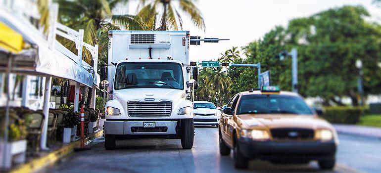 truck on a Miami street