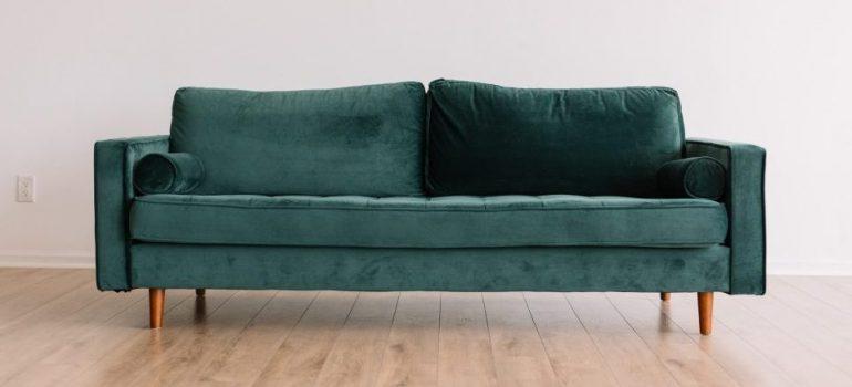 green sofa bed