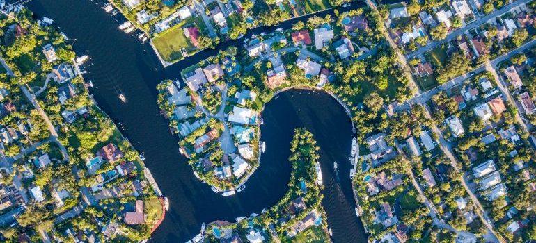 suburban neighborhood from an