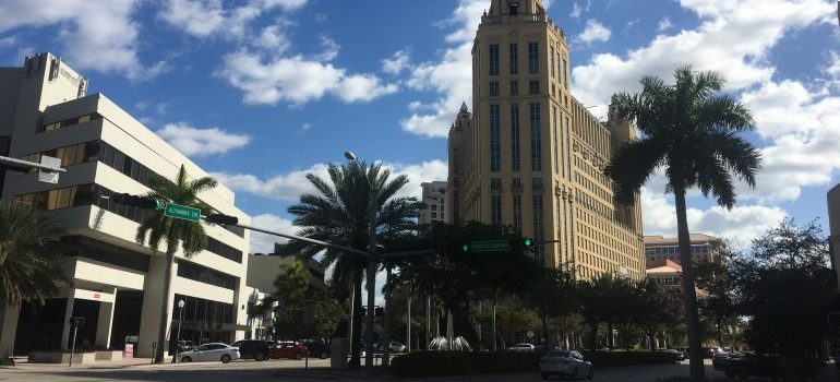 Coral Gables buildings and trees