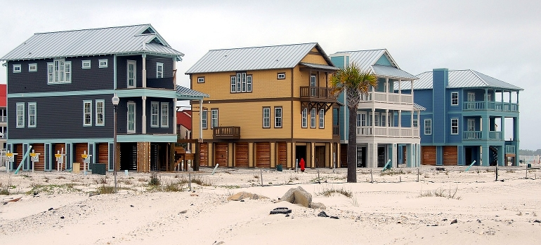 a row of beach homes