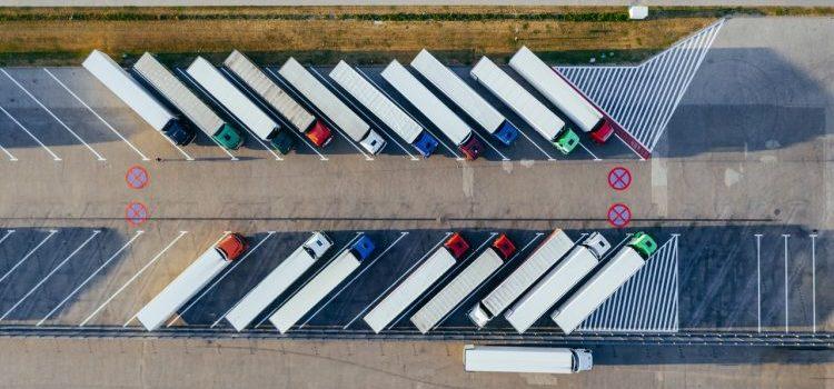 trucks parked