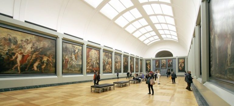 A large art gallery.
