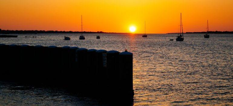 sunset in Bradenton Florida