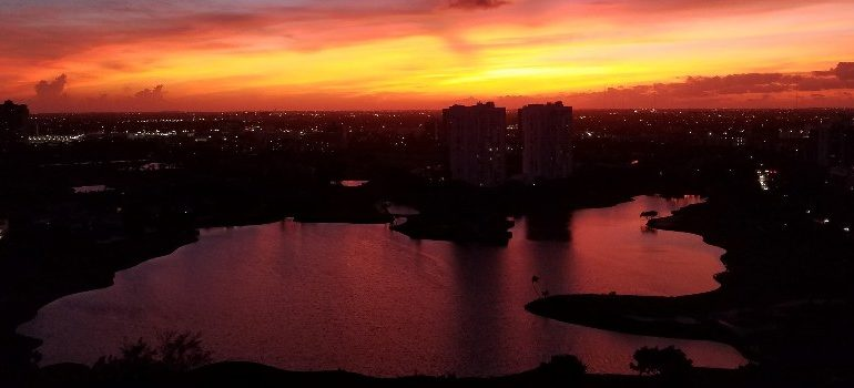 Aventura Florida, sunset