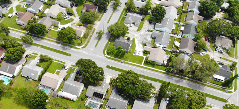 an areal view of a place where residential movers Pembroke Pines operate