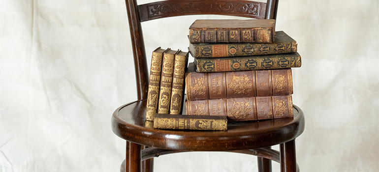 books on a chair