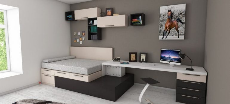 A nicely furnished room.