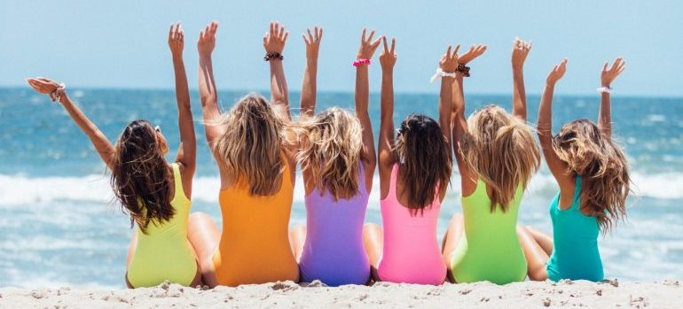 Girls on the beach - local moving companies Coral Springs FL