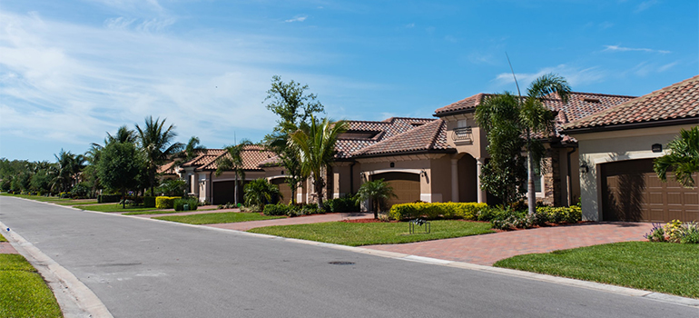 residential area in Florida