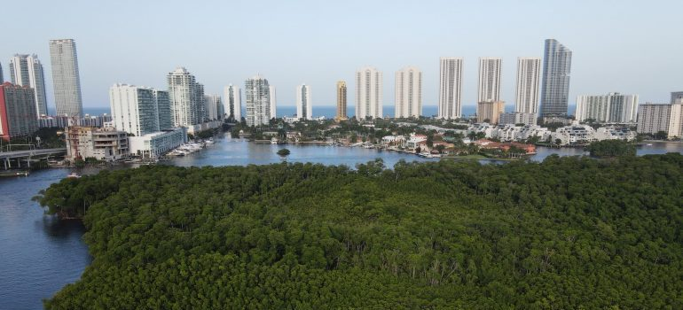 An aerial view of the North Miami.