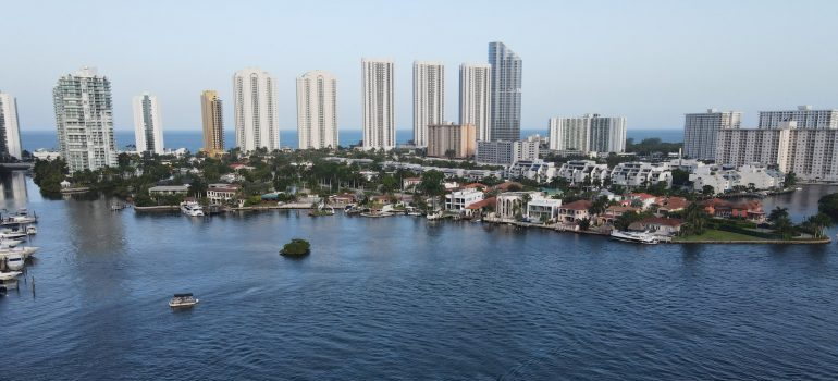An aerial picture of North Miami.
