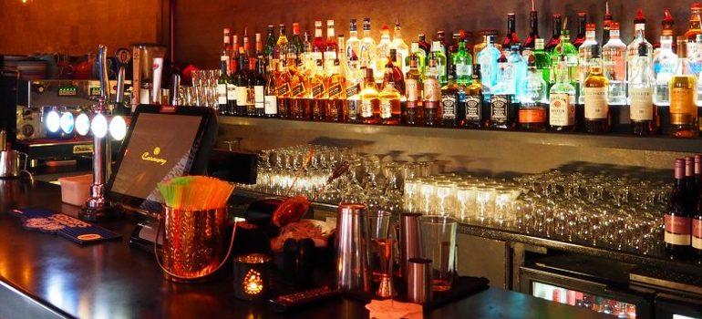 inside of a bar