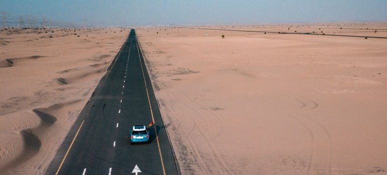 a road in the middle of desert