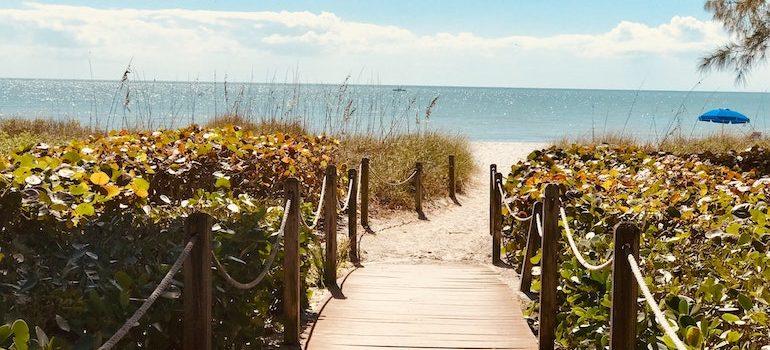 road to a beach