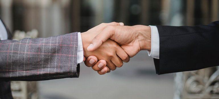 two hands handshaking