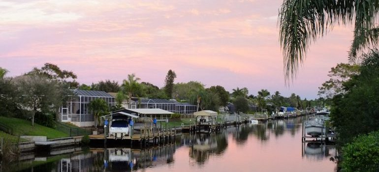 One of the canals in Cape Coral.